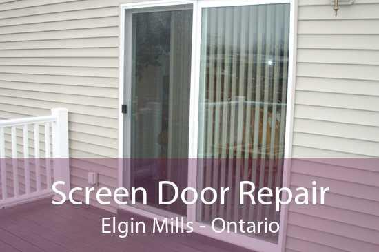 Screen Door Repair Elgin Mills - Ontario